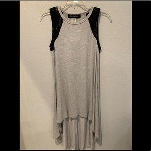 Hi-Lo Heather Gray Dress